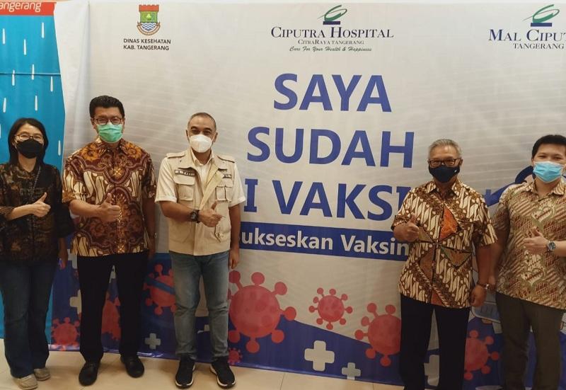 Vaksinasi Covid-19 Bagi Lansia Digelar di Mal Ciputra Tangerang