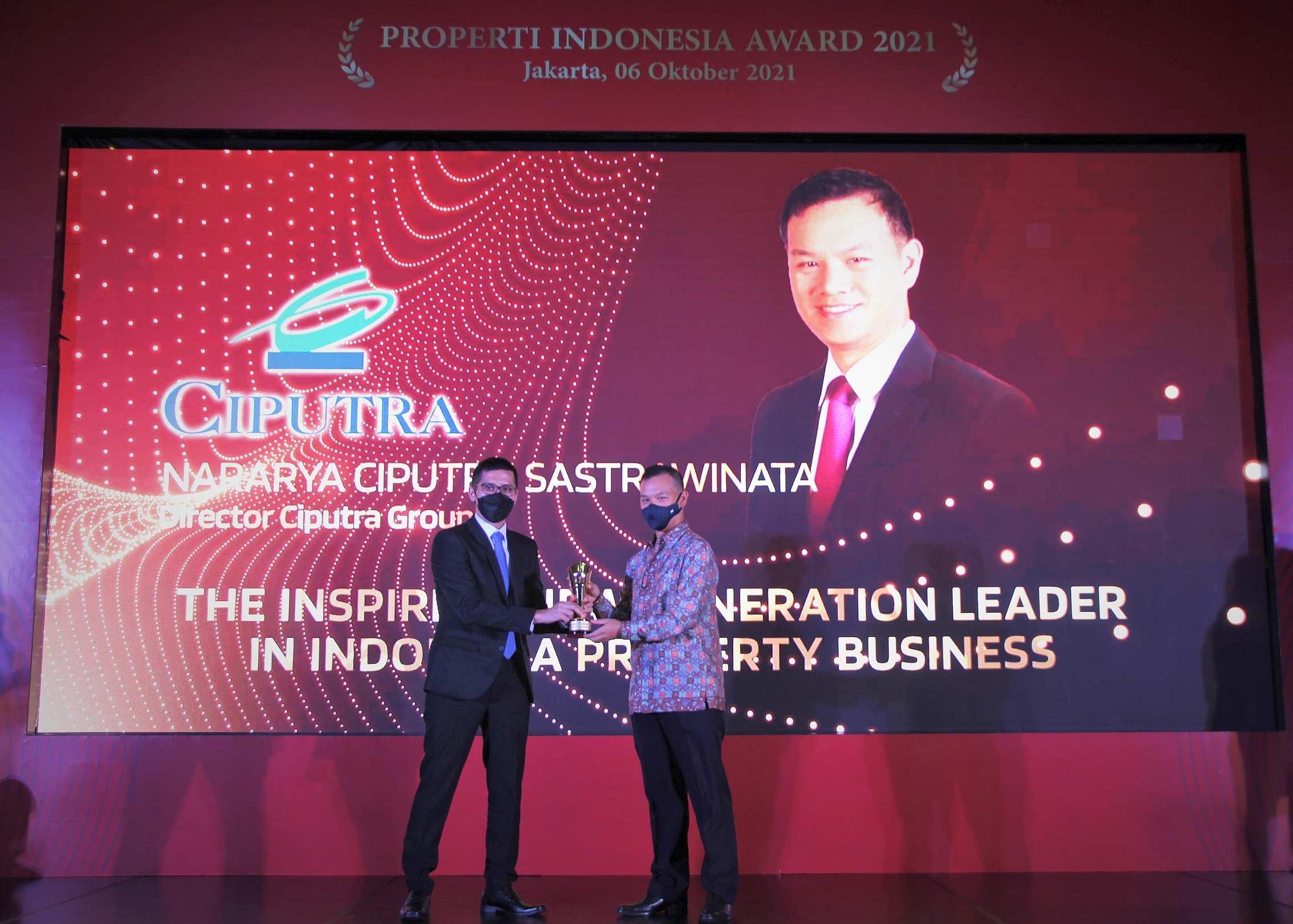 "Mr. Nararya Ciputra Sastrawinata received ""The Inspiring New Generation Leader in Indonesia Property Business Award"""